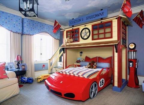дизайн потолка для комнаты мальчика