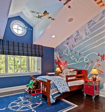 идеи для потолка в детской комнате