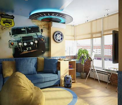 дизайн потолка для детской