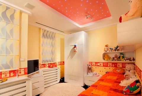 потолок со светодиодами в детской