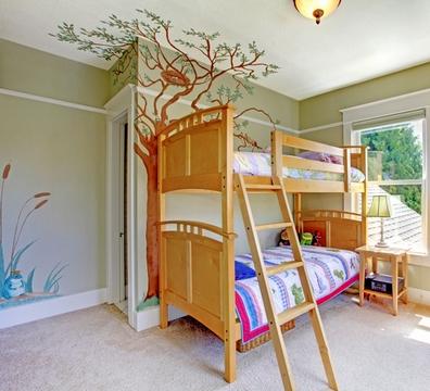 декор потолка в детской