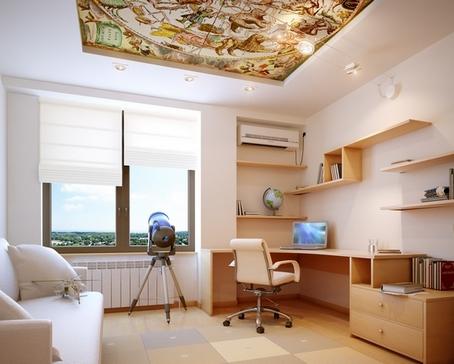 потолок в детской комнате мальчика