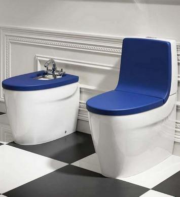 цветные сиденья на унитаз