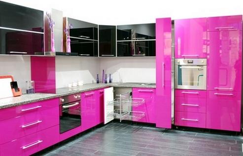 Сочетание цветов в кухонном гарнитуре