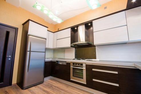 кухня венге и белый