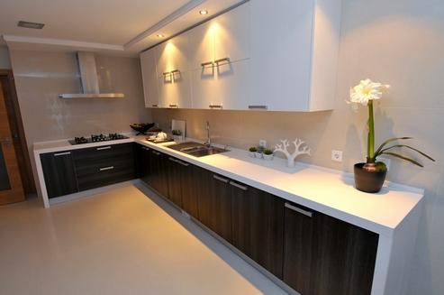 кухня белый и венге