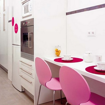 Дизайн очень узкой кухни