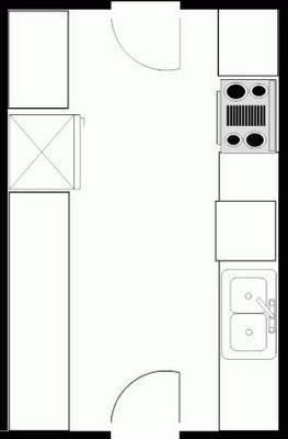 параллельная (двурядная) планировка кухни