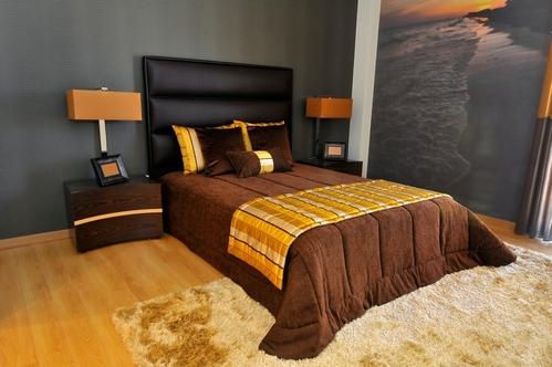 спальня с природными мотивами