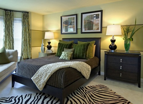 10 Brown and green master bedroom ideas