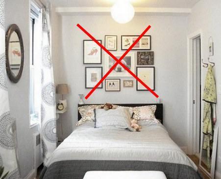 декор узкой спальни