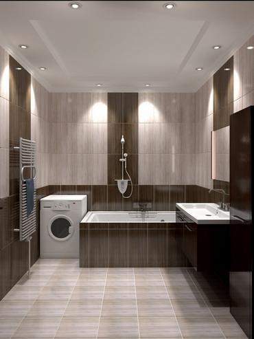Дизайн мозаики в туалете