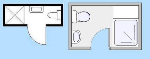 расположение душевой кабины в ванной