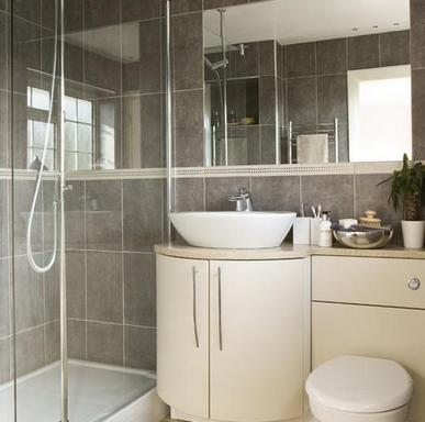 дизайн ванной с душевым уголком