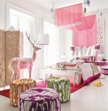 кровать для девочки с пологом