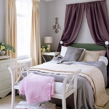 как сделать навес над кроватью