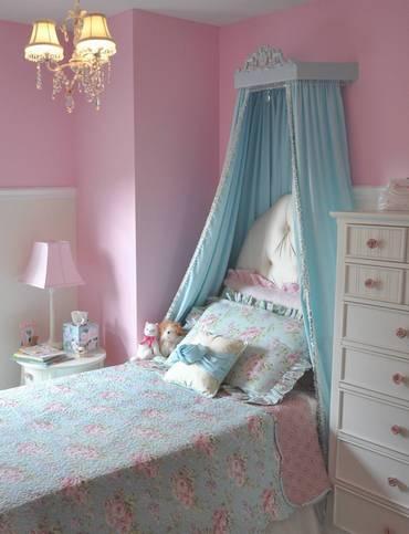 балдахин над кроватью девочки
