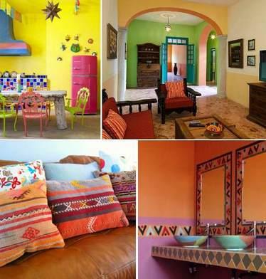 дизайн разноцветного интерьера