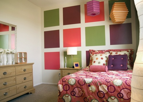 дизайн интерьера в разных цветах