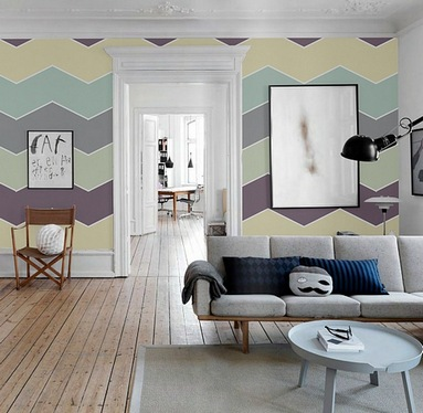 разноцветные стены в интерьере