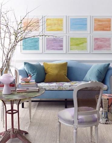 разноцветный декор для интерьера