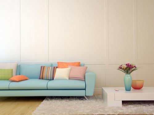 декор интерьера в разных цветах