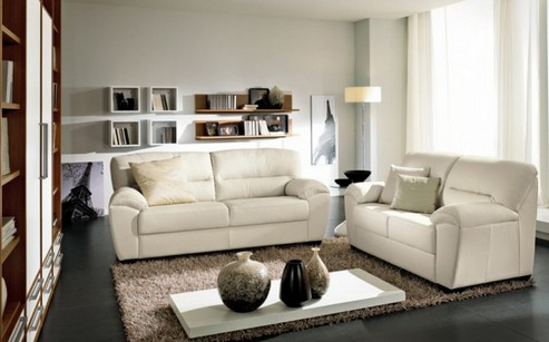 светлая мебель к темным полам