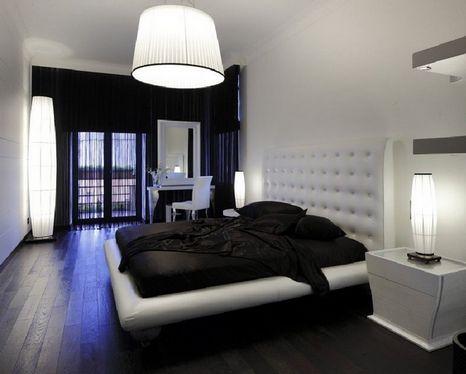 темный пол в спальне