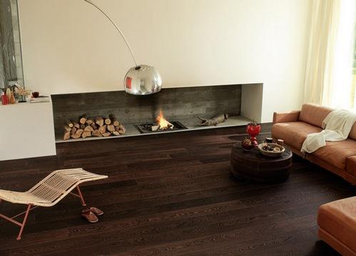 деревянные темные полы