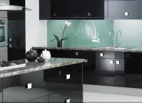 for Black high gloss kitchen ideas
