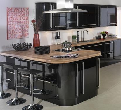 цвет столешницы для черной кухни