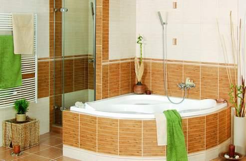 расположение плитки в ванной