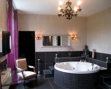 варианты расположения плитки в ванной