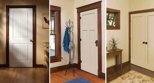 белые двери с темными наличниками