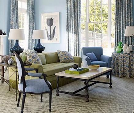 как сочетать диван и кресла