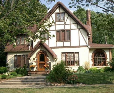английский дом в стиле тюдоров