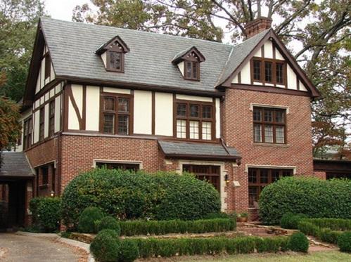 дом в английском стиле тюдор