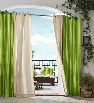 бежево-зеленые шторы