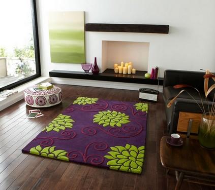Яркие ковры в интерьере