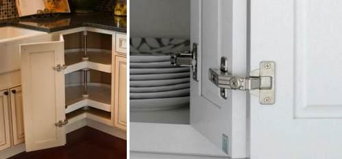 дверцы угловой секции на кухне
