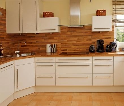 скошенный угловой модуль на кухне