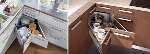 оборудование углового модуля на кухне