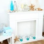 бирюзовые и голубые детали декора