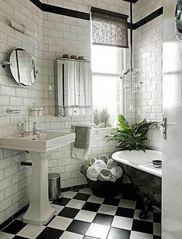 плитка для ванной в стиле ар-деко