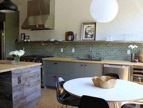 плитка метро на кухне
