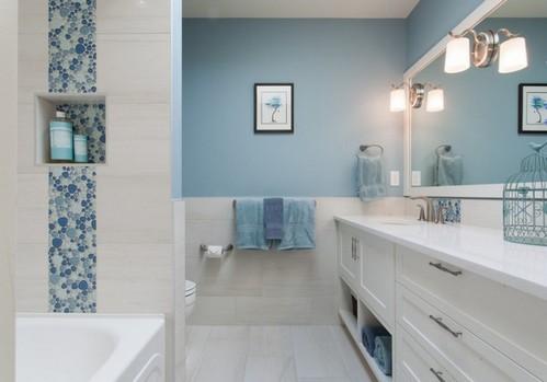 окраска стен в ванной