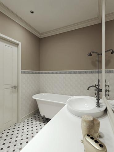 краска на стенах в ванной