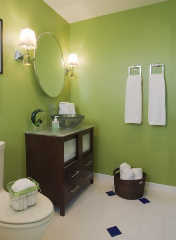 Transitional bathroom vanities