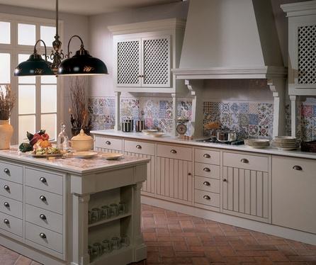 лоскутная плитка в интерьере кухни