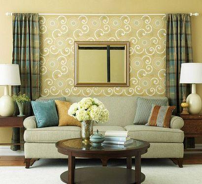 декор стены над диваном